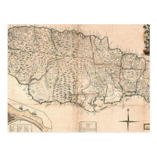 CARTE : La JAMAÏQUE, 1755 2 Carte Postale