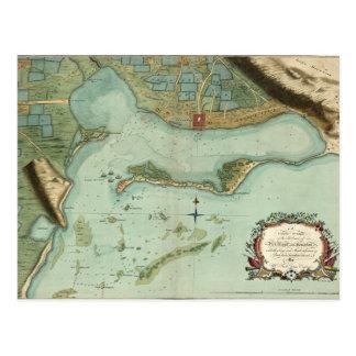 CARTE : La JAMAÏQUE, 1756 Carte Postale