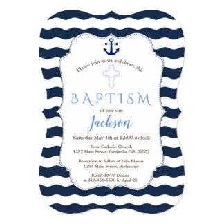 Carte La marine nautique de baptême chic ondule