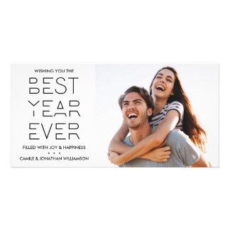 Carte La meilleure année de nouvelle année de photo
