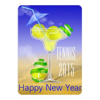 Carte La partie de nouvelle année de margarita de tennis