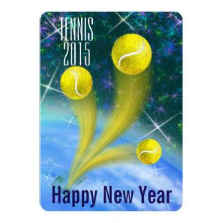 Carte La partie de nouvelle année de victoire de tennis