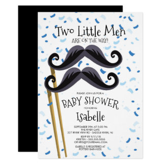 Carte La petite moustache moderne d'hommes jumelle le