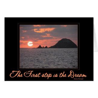 Carte : La première étape est la carte rêveuse -