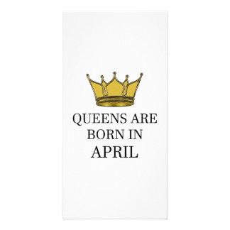 Carte La Reine sont née en avril