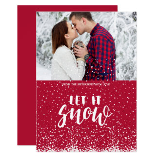 Carte Laissez lui neiger premiers couples de neige de