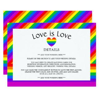 Carte L'amour de coeur d'arc-en-ciel est détail de