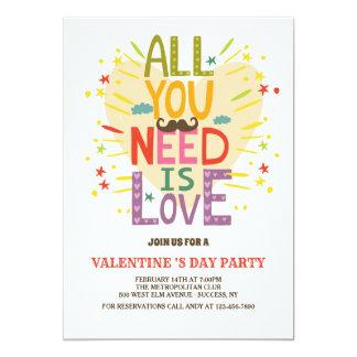 Carte L'amour est tout que vous avez besoin d'invitation