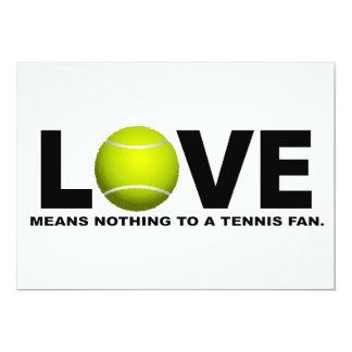 Carte L'amour ne signifie rien à une fan de tennis