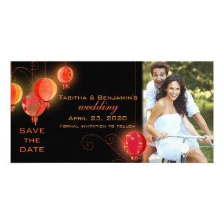 Carte Lanternes de jardin de soirée épousant des