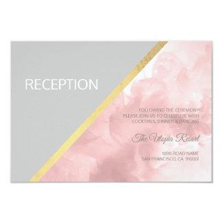 Carte L'aquarelle rougissent mariage gris rose de