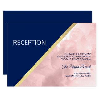 Carte L'aquarelle rougissent mariage rose de réception