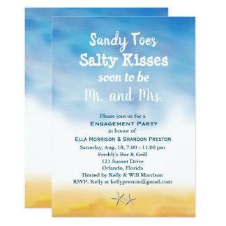 Carte L'aquarelle Sandy botte le ciel et le sable avec