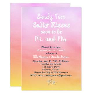 Carte L'aquarelle Sandy botte le coucher du soleil avec