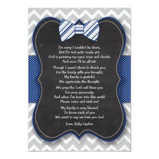 Carte Le baby shower de cravate d'arc vous remercient