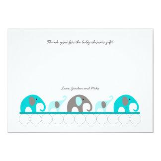 Carte Le baby shower d'éléphant de turquoise vous