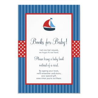 Carte Le baby shower nautique de rayures de voilier
