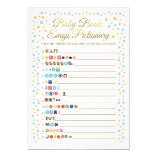 Carte Le bébé réserve le bleu et l'or de jeu d'Emoji