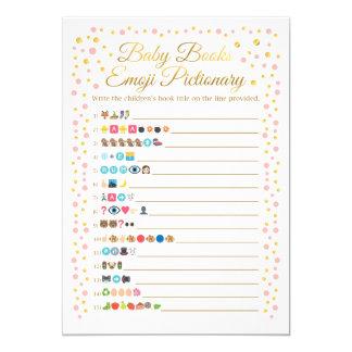 Carte Le bébé réserve le rose et l'or de jeu d'Emoji