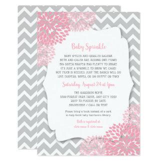 Carte Le bébé rose moderne de dahlia arrosent des