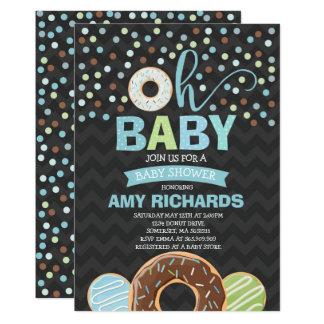 Carte Le beignet d'invitation de baby shower de beignet