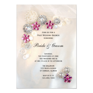 Carte Le diamant rose perle le brunch de mariage de