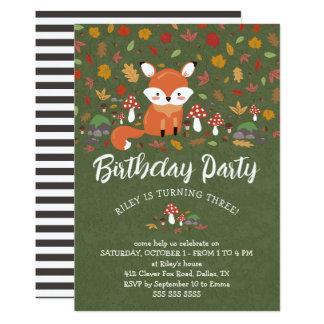 Carte Le Fox de chute badine la fête d'anniversaire de