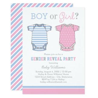 Carte Le genre de bébé indiquent le garçon ou la fille