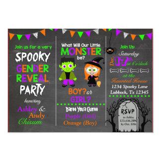Carte Le genre de Halloween indiquent l'invitation