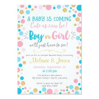 Carte Le genre indiquent le garçon ou la fille de baby