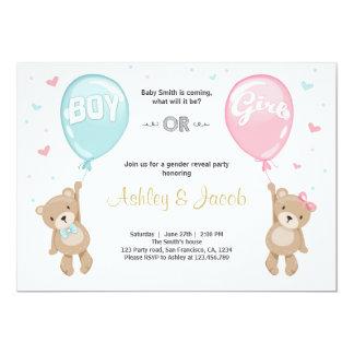 Carte Le genre indiquent le nounours garçon ou fille