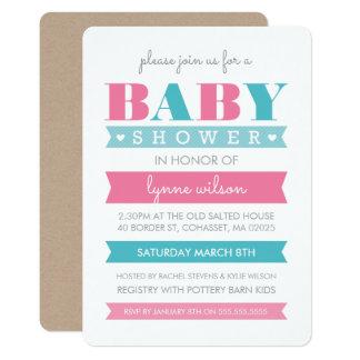 Carte Le genre moderne d'INVITATION de BABY SHOWER