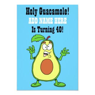 Carte Le guacamole saint quelqu'un tourne l'avocat 40