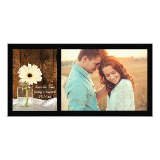 Carte Le mariage campagnard de pot et de marguerite de