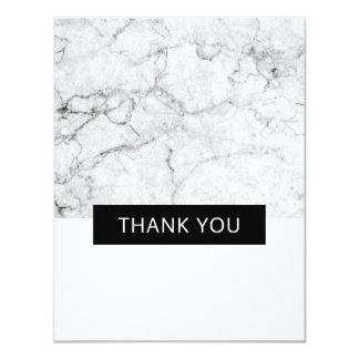 Carte Le mariage de marbre moderne vous remercient -