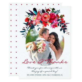 Carte Le mariage vibrant de photo de bouquet de marine