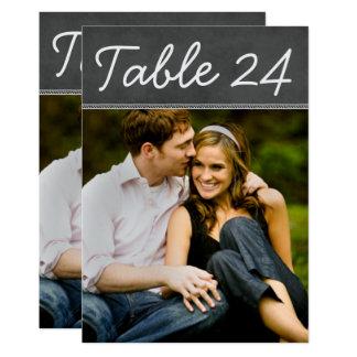 Carte Le nombre de Tableau de photo de mariage carde le