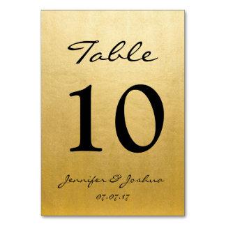 Carte Le nombre de Tableau de réception de mariage d'or
