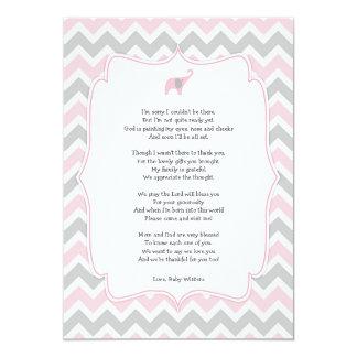 Carte Le poème de baby shower vous remercient des notes,