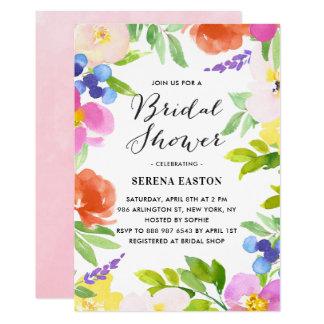 Carte Le ressort d'aquarelle fleurit l'invitation