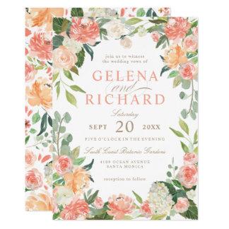 Carte Le ressort rougissent et le mariage floral