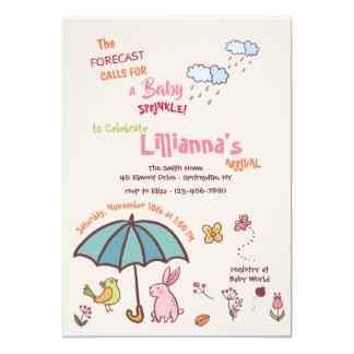 Carte Le ressort verse l'invitation de baby shower