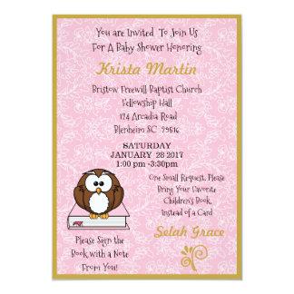 Carte Le rose apportent un baby shower de livre