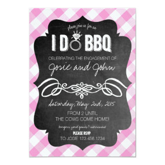 Carte Le rose I font l'invitation de BBQ