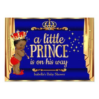 Carte Le rouge bleu royal drape le prince baby shower
