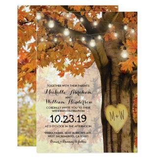 Carte Le scintillement rustique d'arbre d'automne