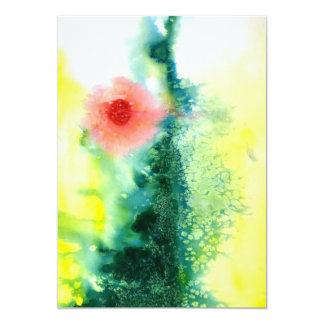 Carte Le soleil abstrait de paysage d'aquarelle