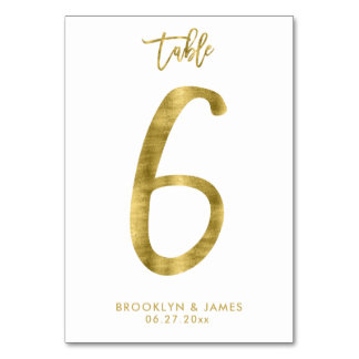 Carte Le Tableau de mariage numérote l'effet le numéro 6