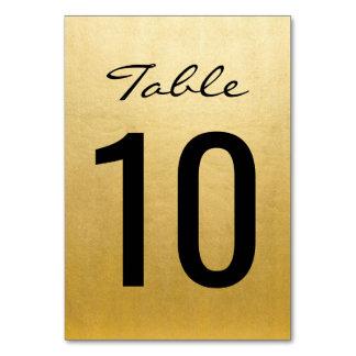Carte Le Tableau élégant de mariage d'or numérote des