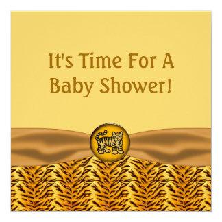 Carte Le tigre de bébé mignon barre le baby shower